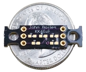 The PCB and a US quarter