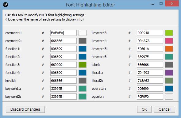 Font Highlighting Editor v. 1.0.0