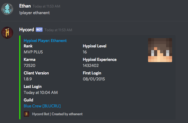 GitHub - ethanent/hycord: The public Discord bot for Hypixel