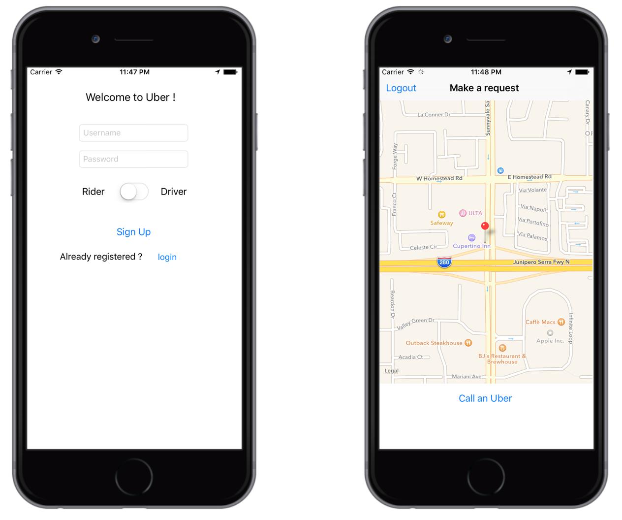 GitHub - RedFish/Uber: Uber iOS Application Clone