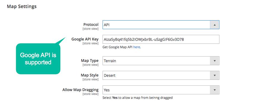 Magento 2 Optional maps embedding