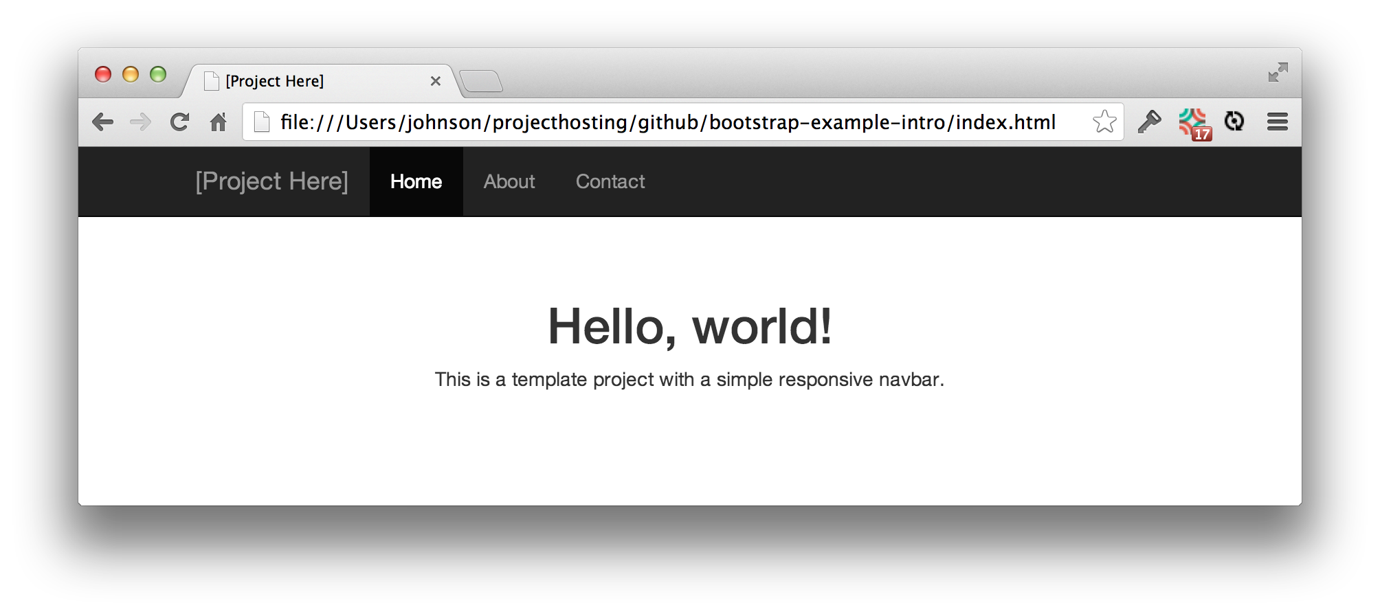 Github Ics Software Engineering Bootstrap Example Intro Each