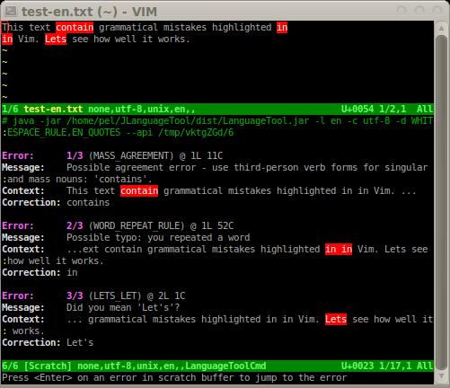 GitHub - dpelle/vim-LanguageTool: A vim plugin for the
