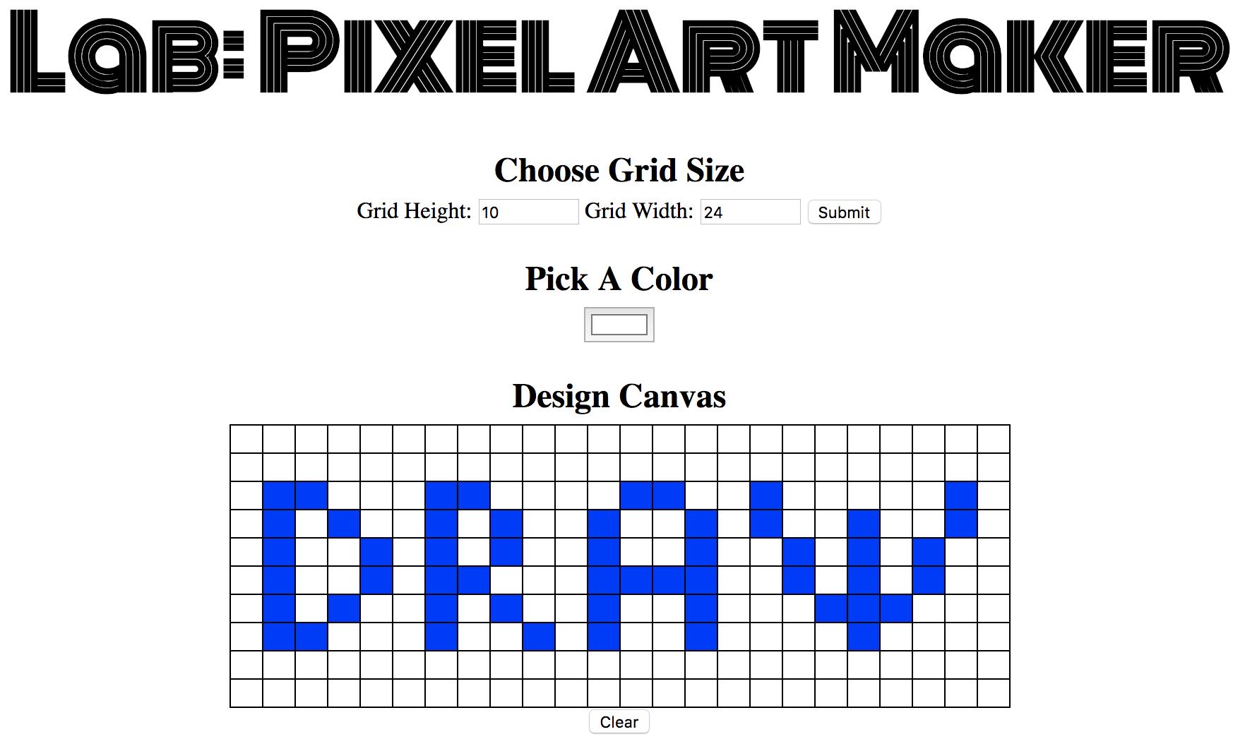 GitHub - IyiKuyoro/Pixel-Art-Project: A simple pixel art