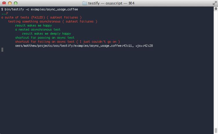 async usage output