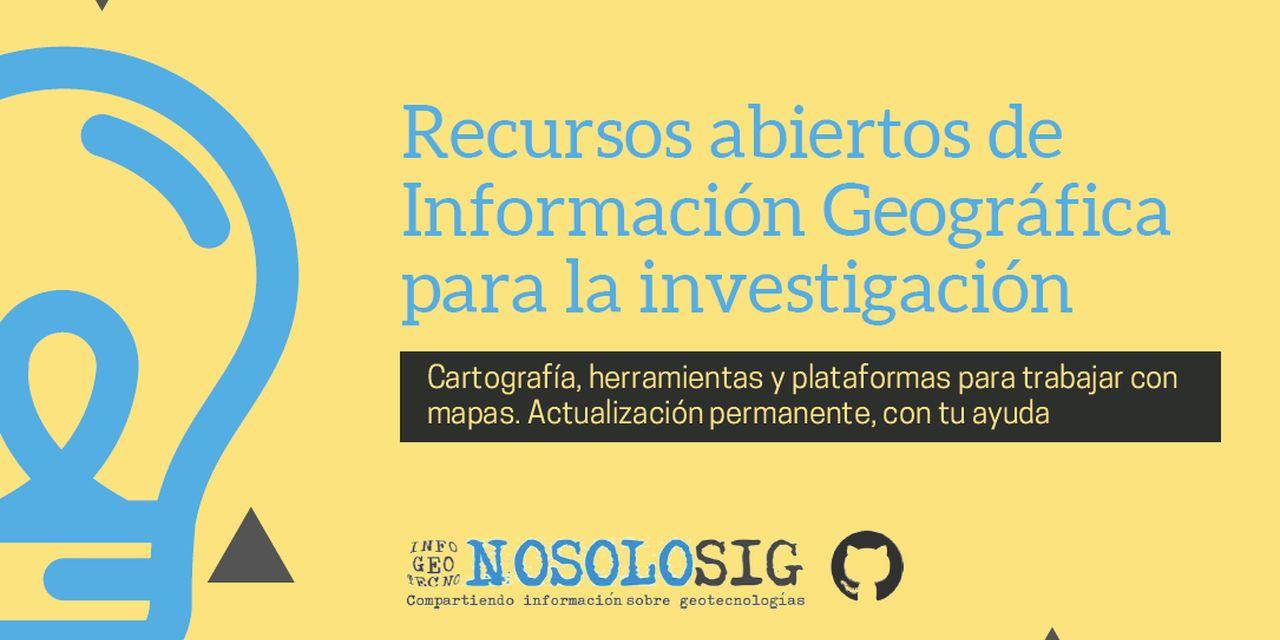 Recursos abiertos de Información Geográfica