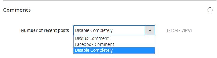 configure comment