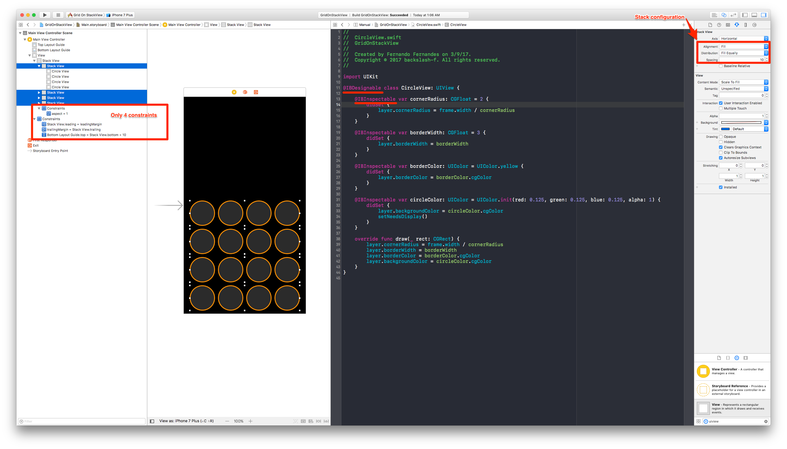 Drawing Line Xcode : Grid on stackview readme.md at master · backslash f