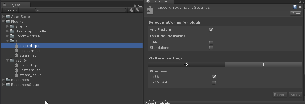 Bug] Final builds in Unity crash on startup for x86_64