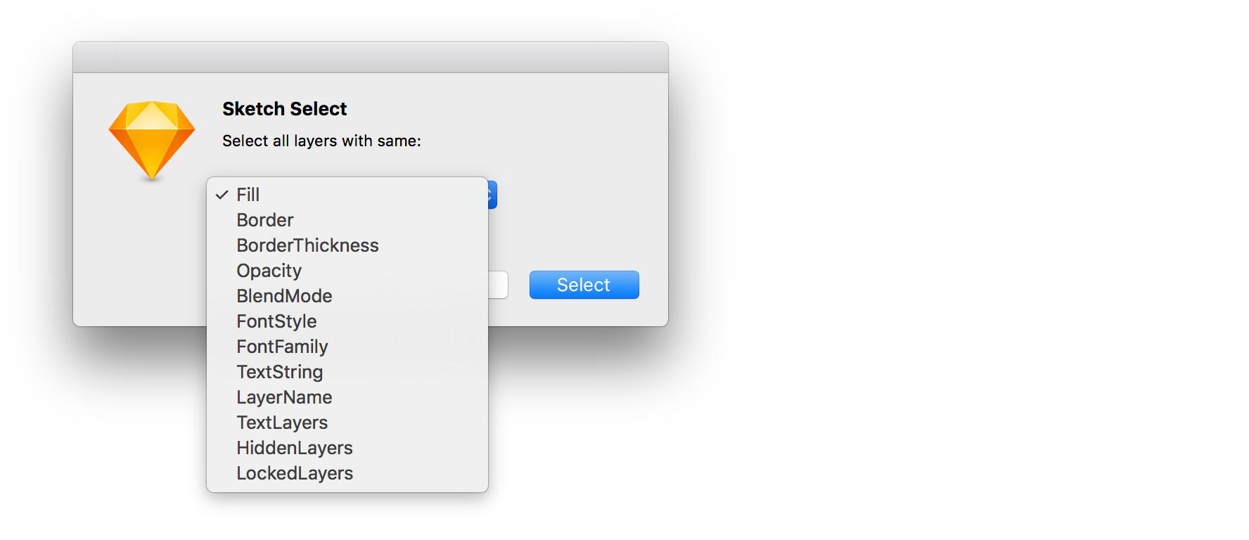 Sketch Select plugin preview