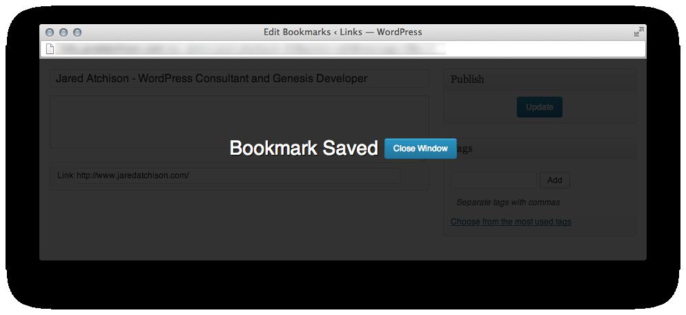 Bookmarklet saved