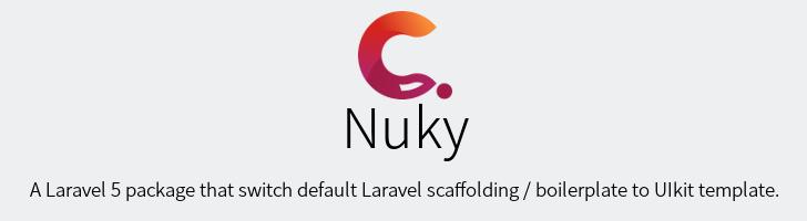 Nuky: Un admin template para laravel