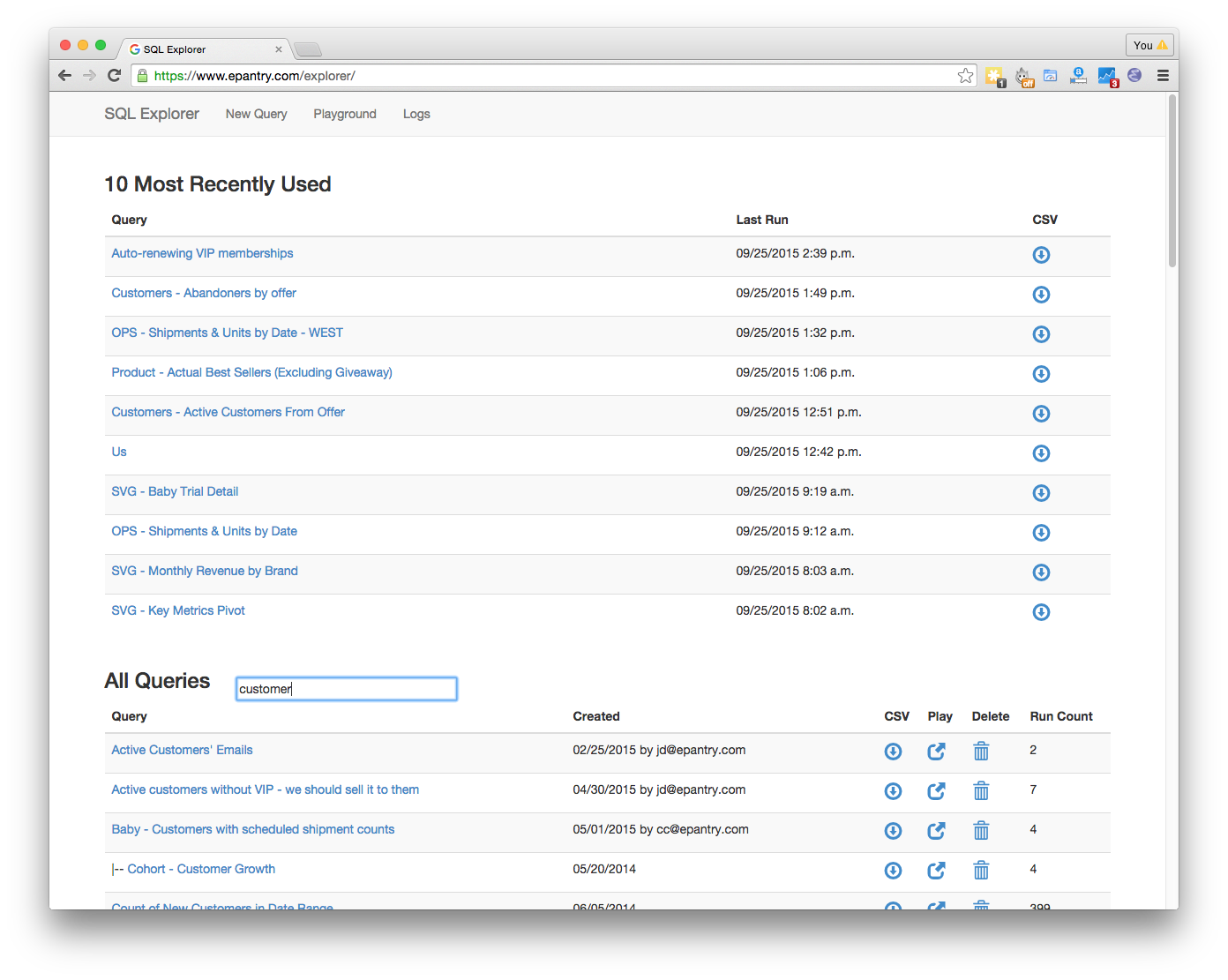 GitHub - groveco/django-sql-explorer: Easily share data across your ...