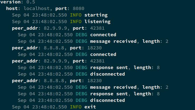 slog-rs terminal compact output