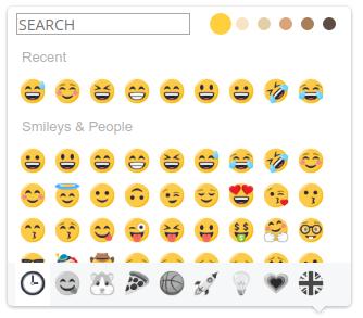 EmojiOneArea - searchPosition bottom