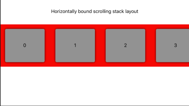 horizontal scrolling stacklayout