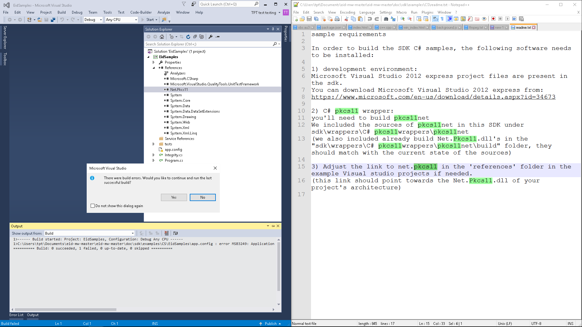 Hello world with Visual Studio 2015 not working  · Issue #23