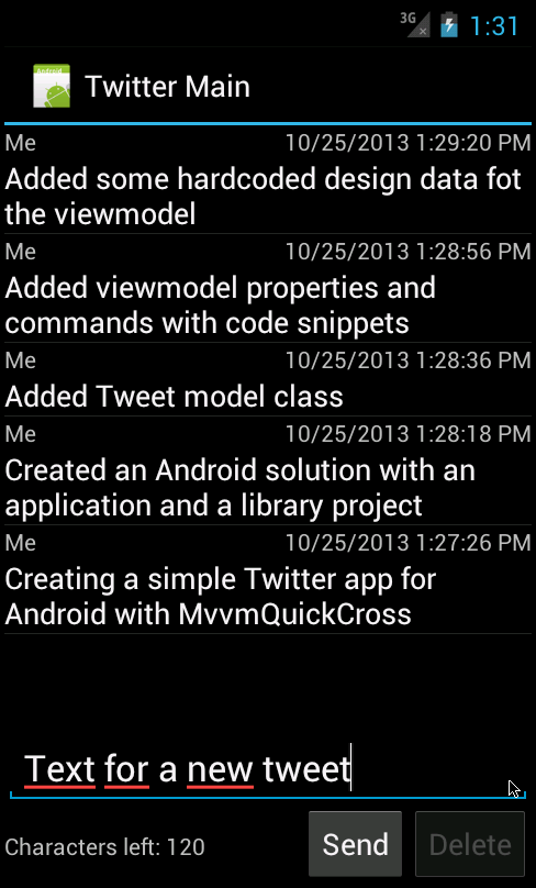 Twitter Example for Android