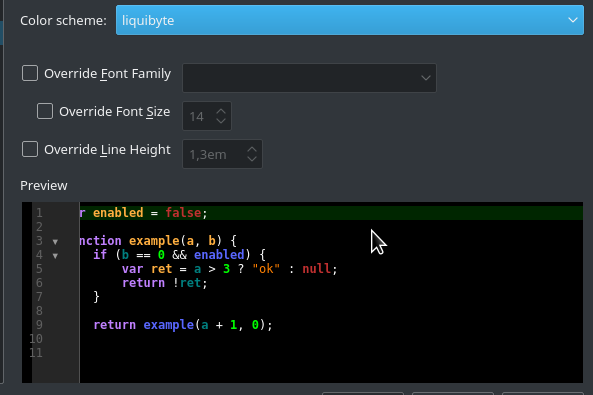 QtWebEngine: syntax highlighting doesn't work in Editor