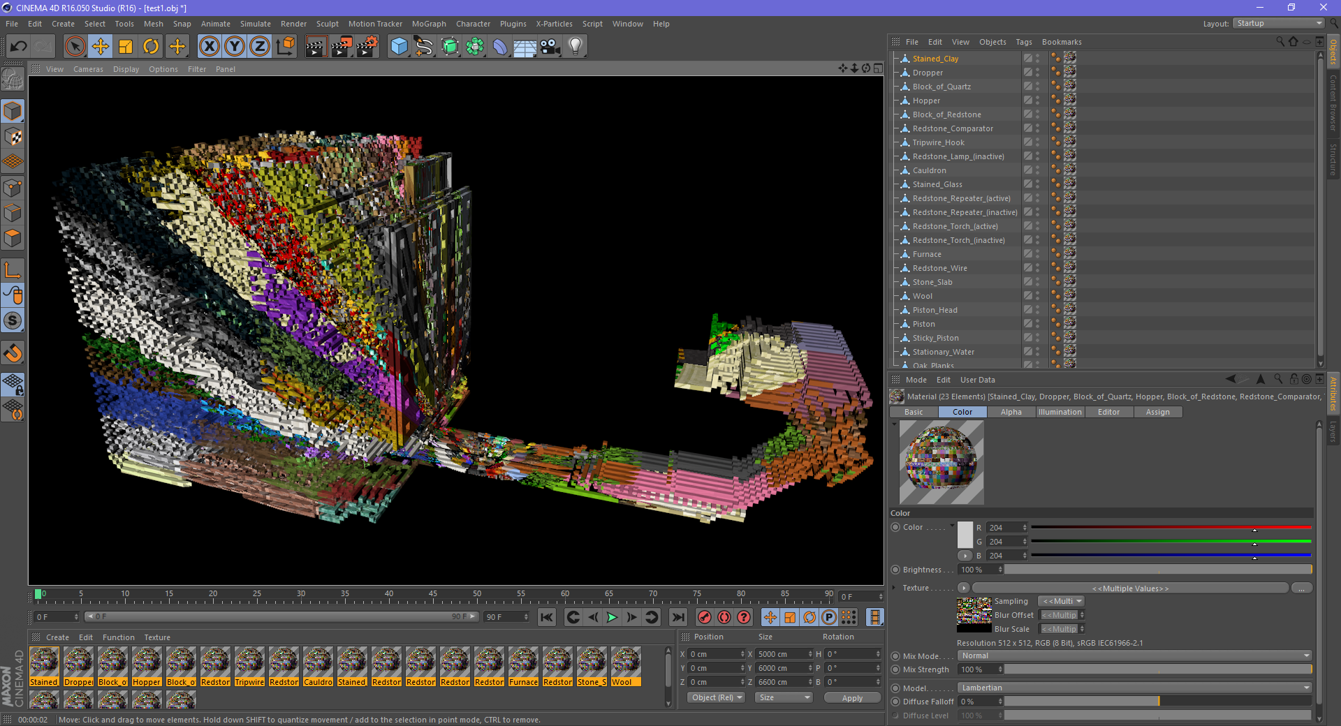 Texture mapping incorrect [Cinema 4D] · Issue #41 · erich666 ... on