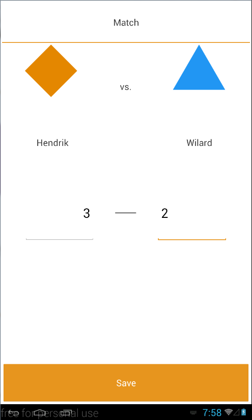 Match View page