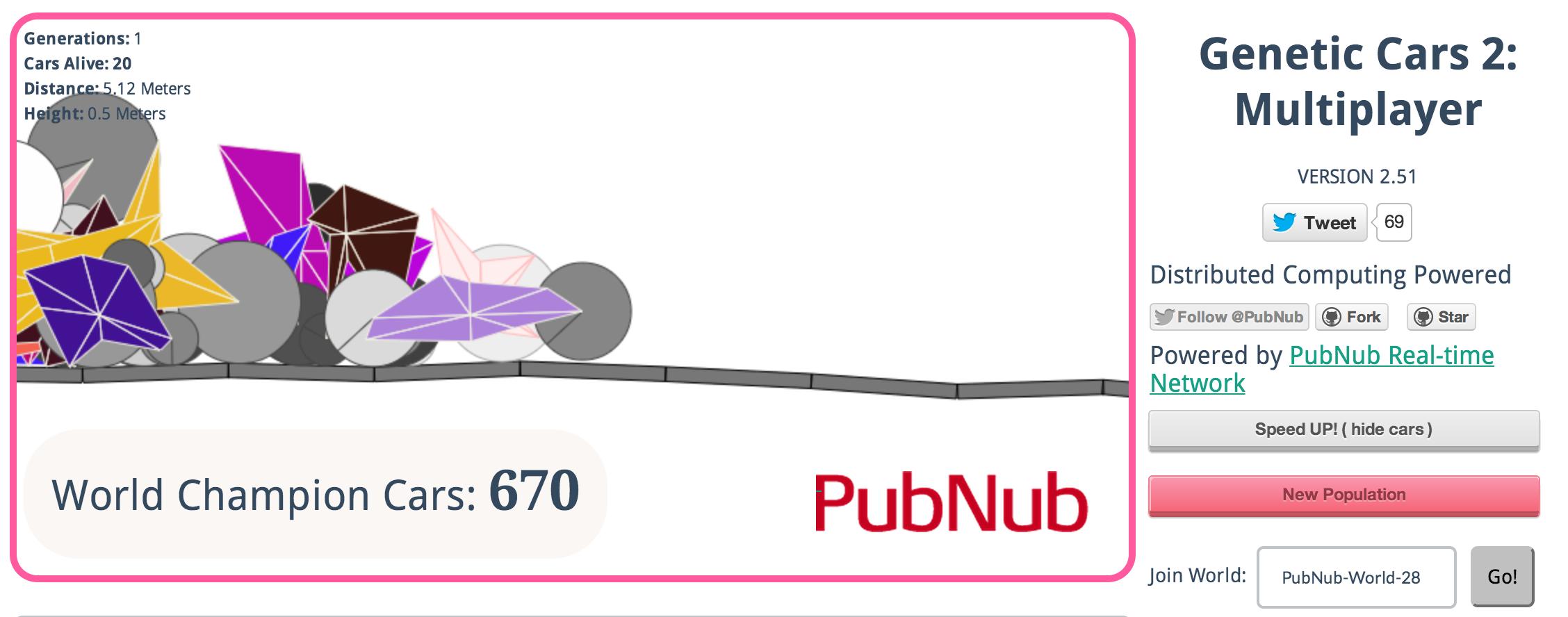 Multiplayer Genetic Cars PubNub
