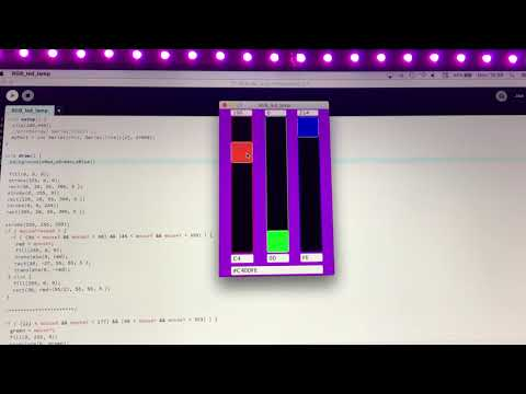 RGB WS2812B Processing Serial Arduino ESP8266