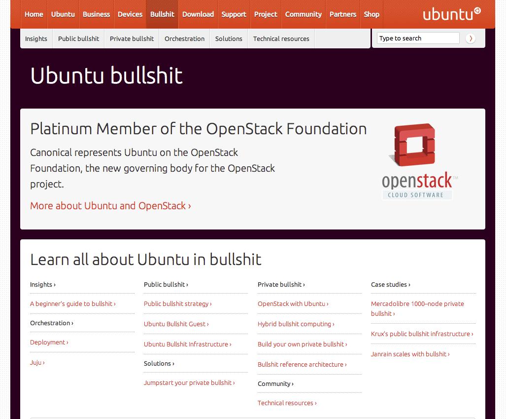 Ubuntu Bullshit