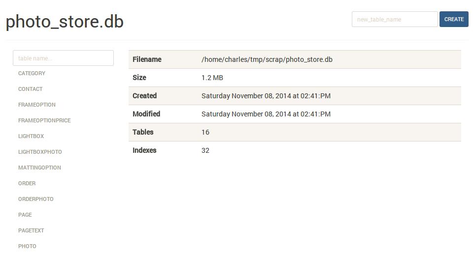 GitHub - coleifer/sqlite-web: Web-based SQLite database
