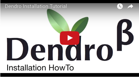 YouTube installation tutorial for Dendro