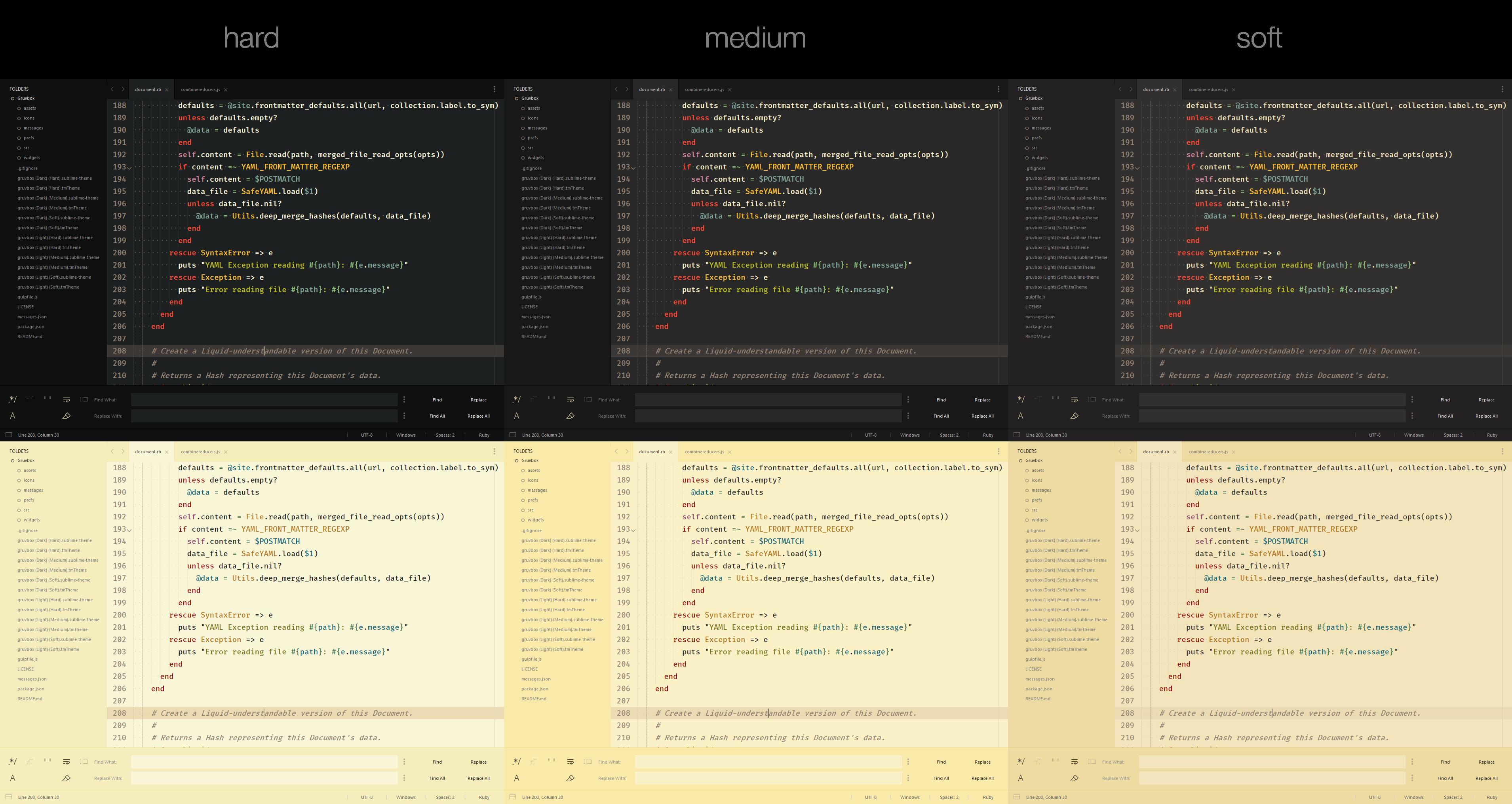 Screenshot Contrast Options