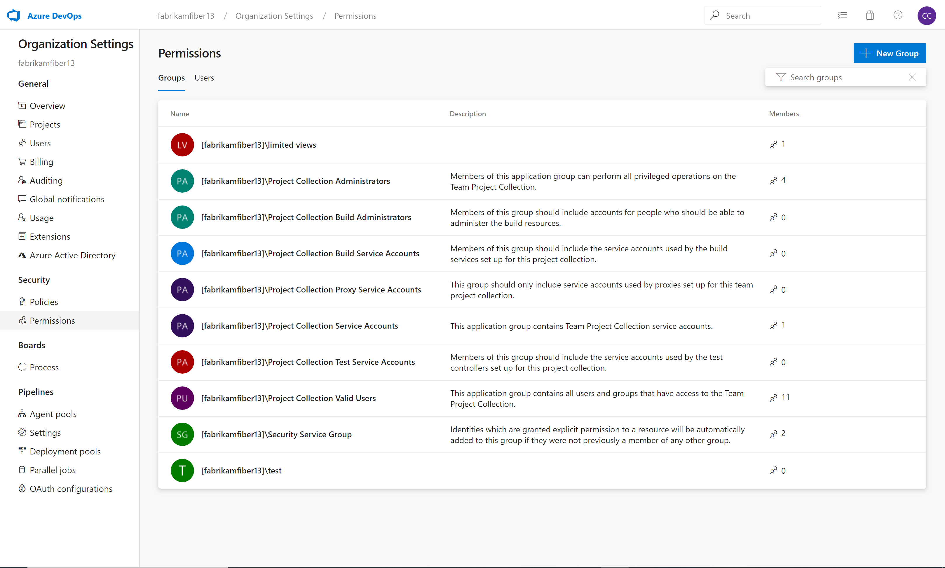 New UI to manage organization and project permission