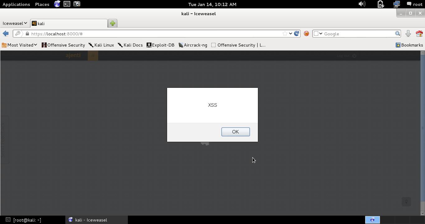 Stored XSS Vulnerability · Issue #233 · ajenti/ajenti · GitHub