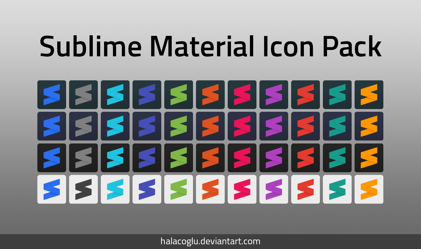 Sublime Material Icon Pack