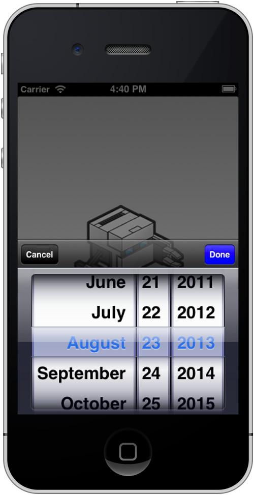 screen shot iPhone
