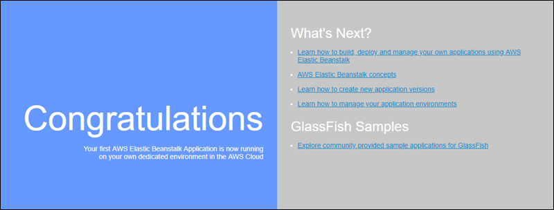 [The Glassfish example application showing in a web browser]
