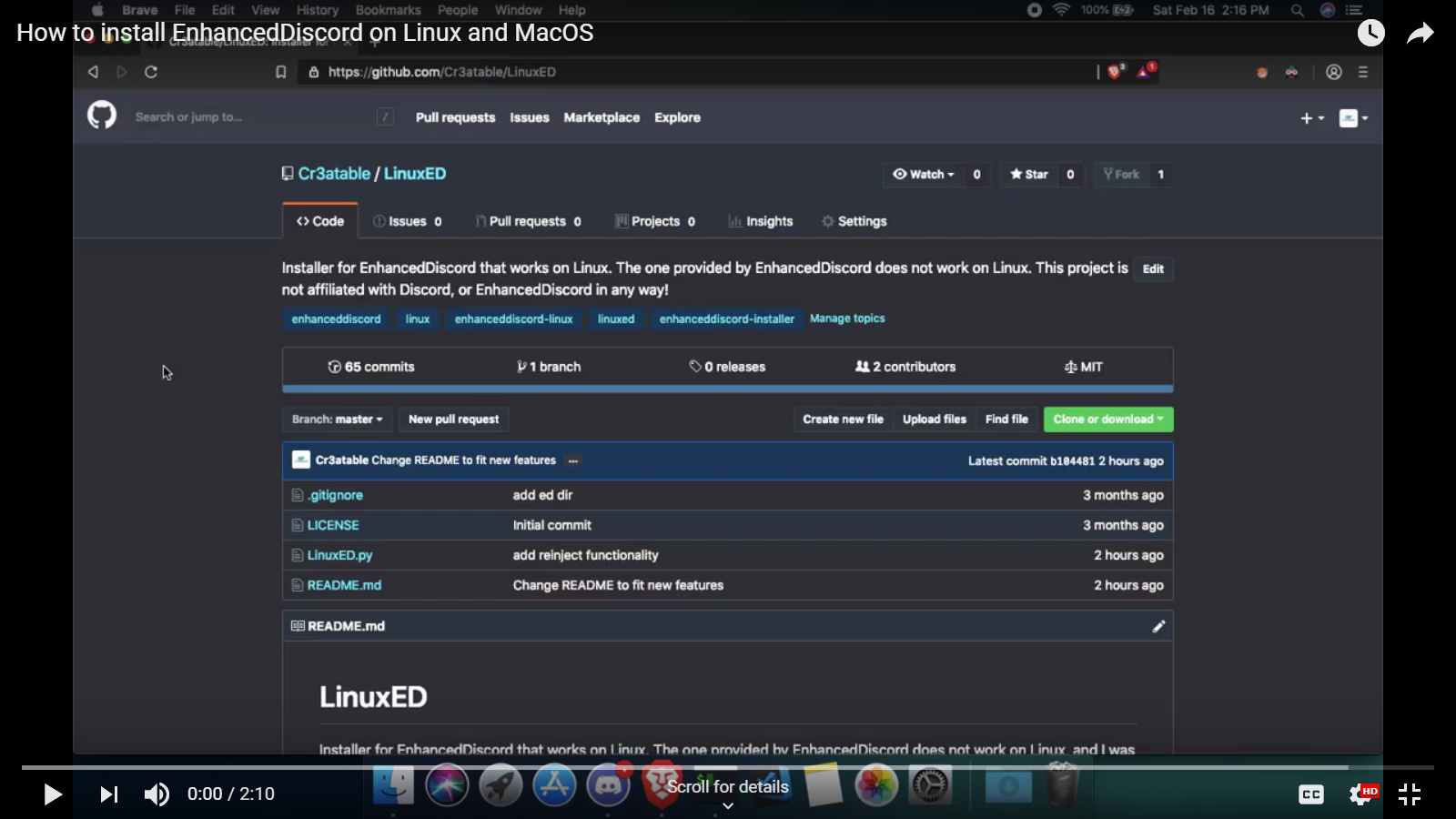 How to install EnhancedDiscord on Linux or MacOS