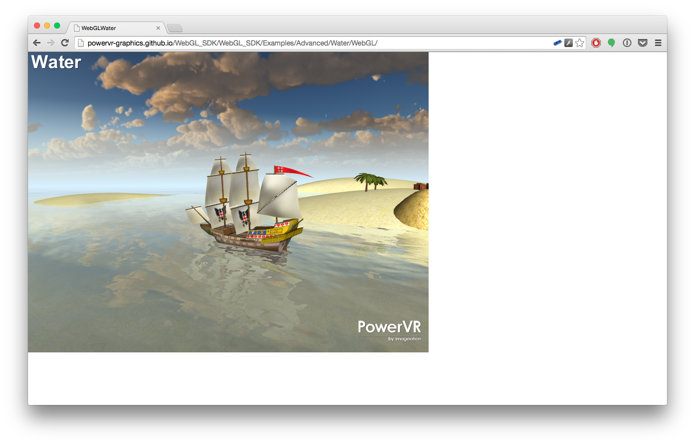WebGL Water demo screenshot