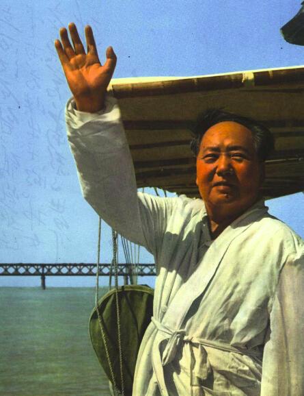 1966 10 1966年毛泽东游长江2