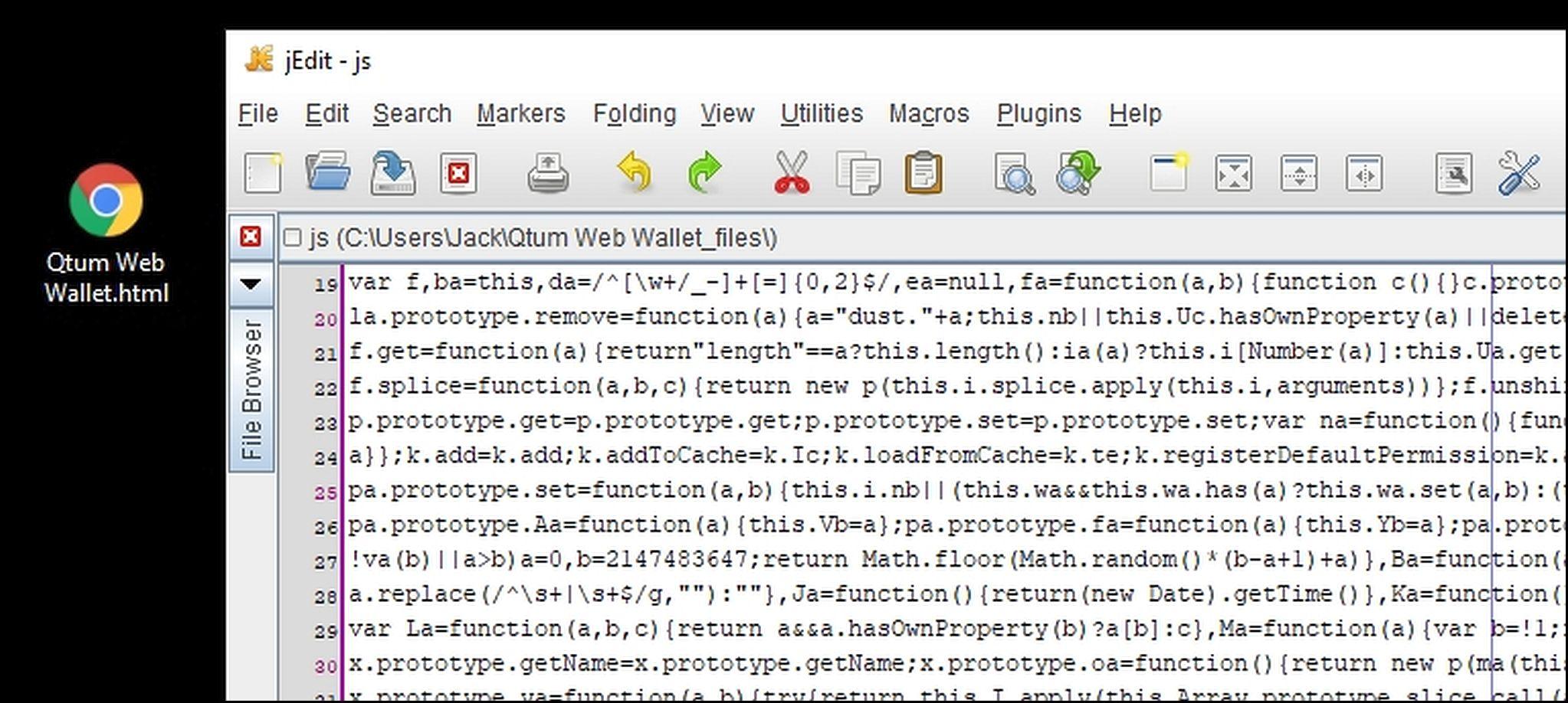 1 The Web Wallet HTML File