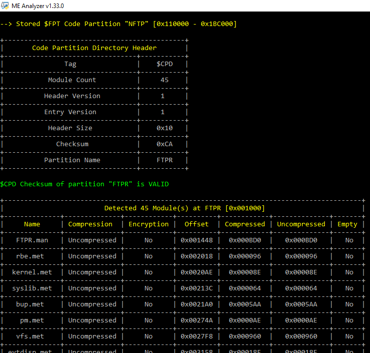 GitHub - platomav/MEAnalyzer: Intel Engine Firmware Analysis
