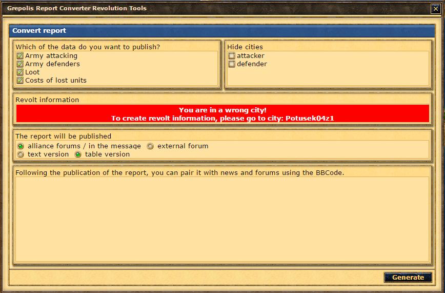 Report Converter with Revolt