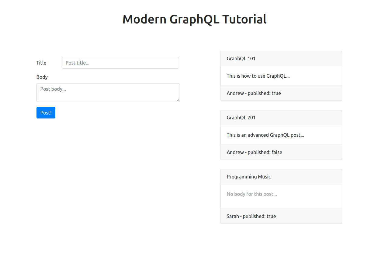 GitHub - ian13456/modern-graphql-tutorial: A simple and easy