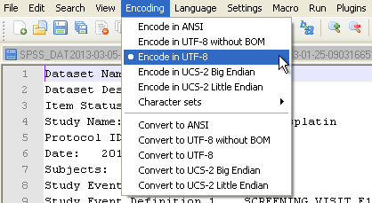 UTF8 in Notpad++