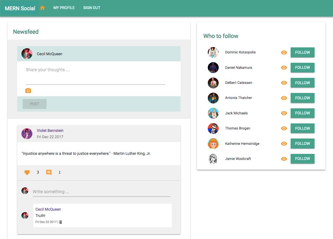 GitHub - shamahoque/mern-social: A MERN stack based social
