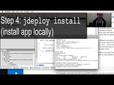 Introduction to jDeploy Screencast