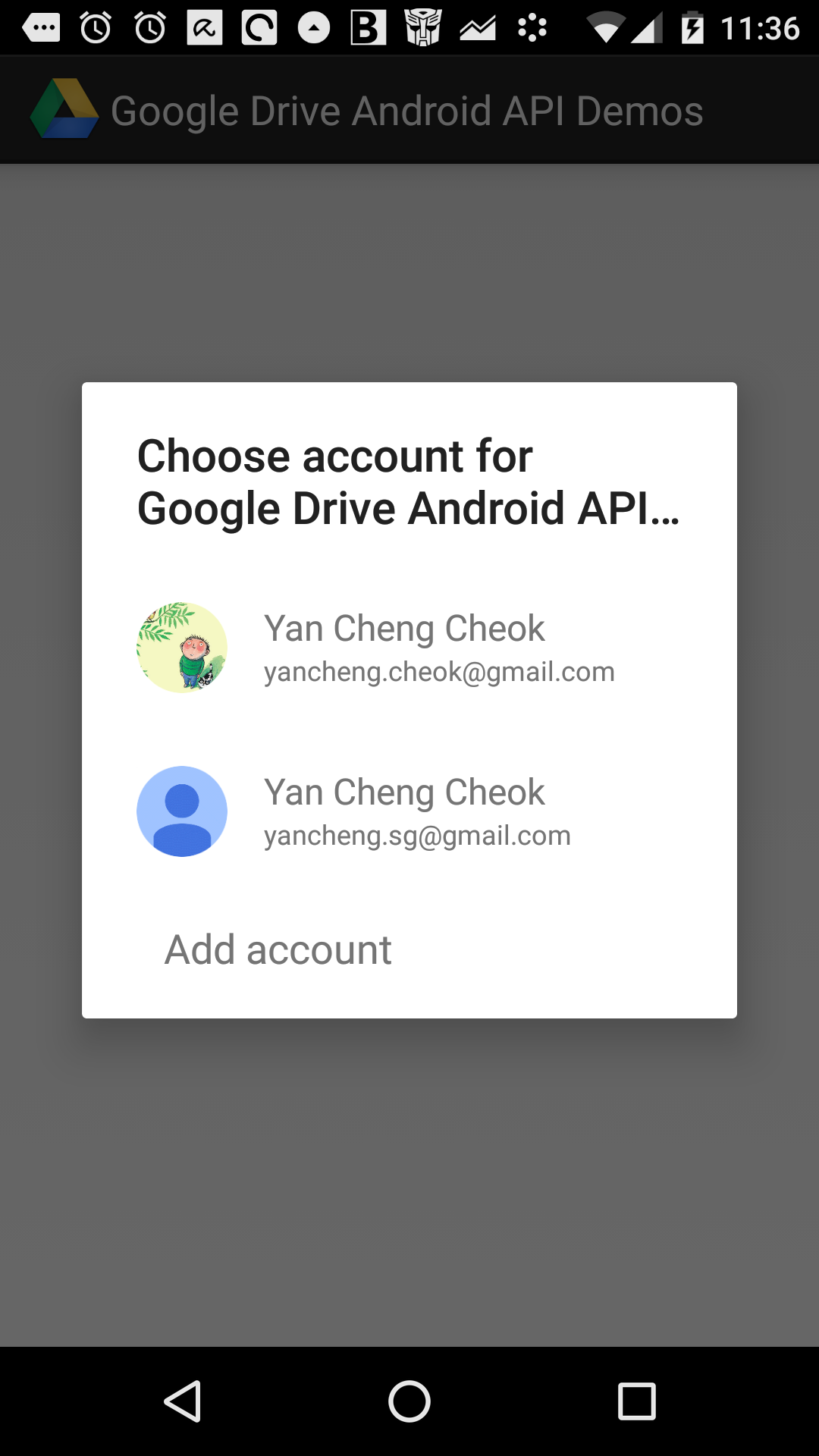 Problem in running android-demos - Login can never success  · Issue