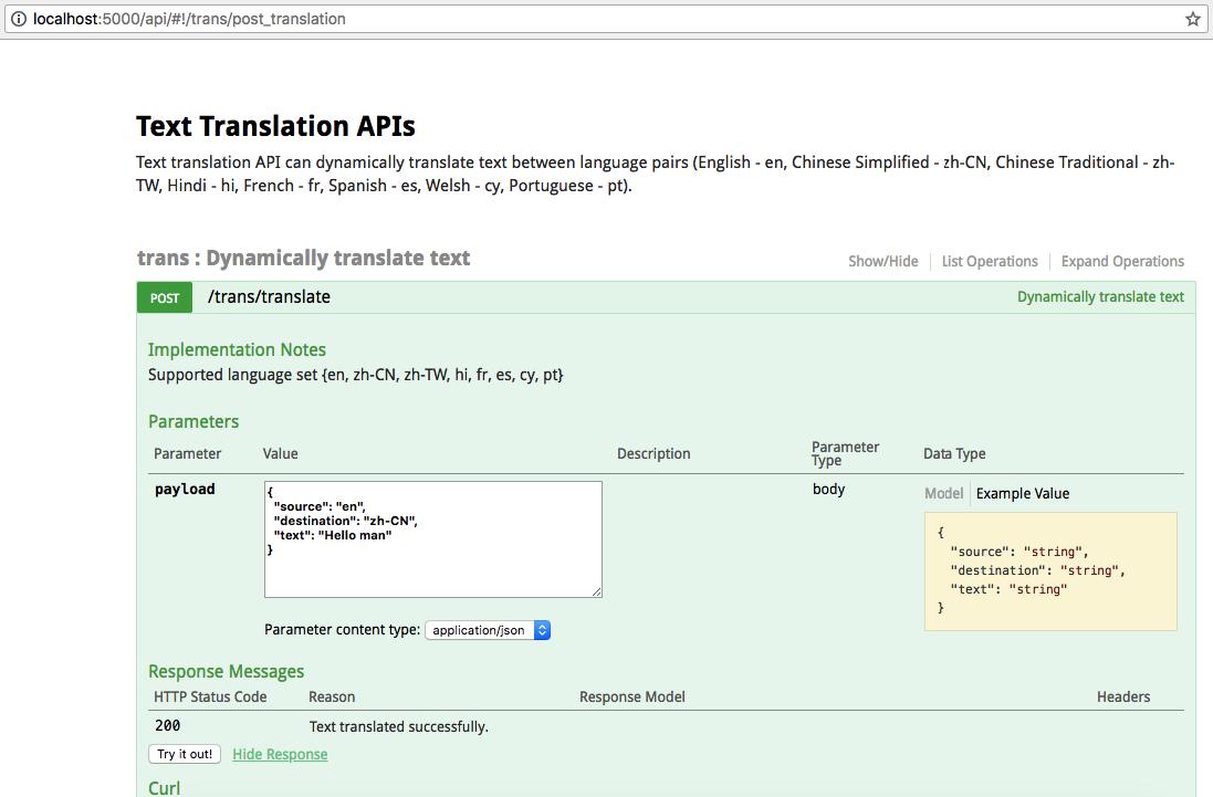 GitHub - haritkumar/text-translation-python-flask-restplus: Text