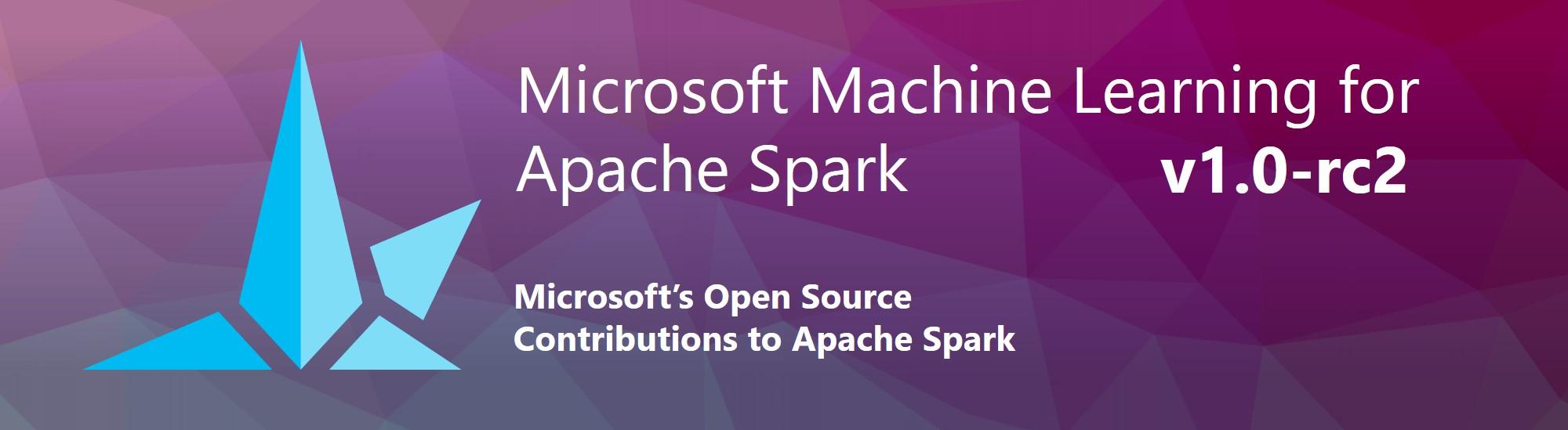 Microsoft ML for Apache Spark v1.0.0-rc2