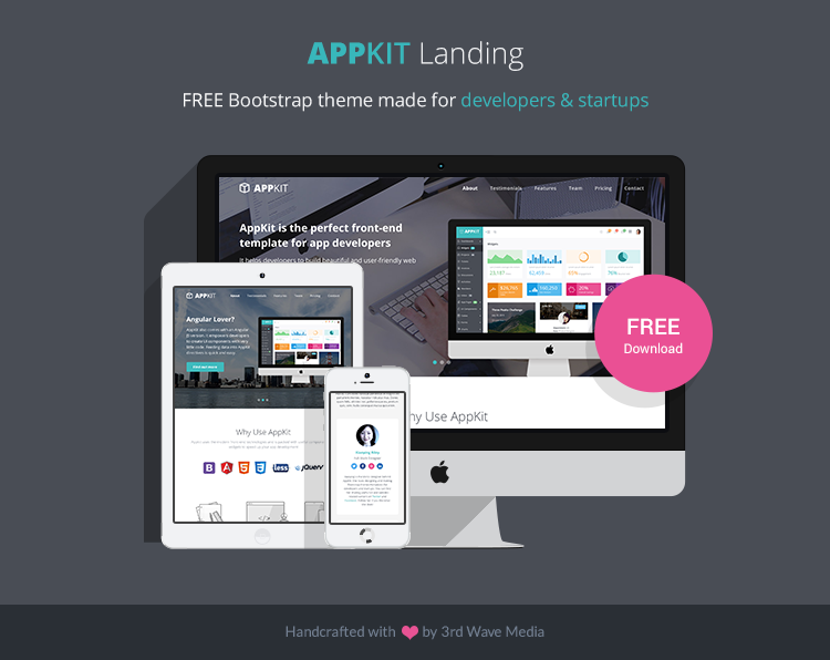 Free Bootstrap Theme for Developers and Startups